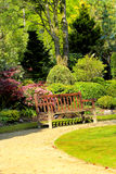 Schöner Frühlingsgarten in Schottland Lizenzfreie Stockfotografie