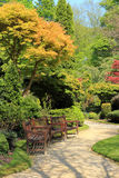 Schöner Frühlingsgarten in Schottland Lizenzfreies Stockbild