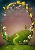 Schöner Frühlingsrahmen mit Blumen. lizenzfreie abbildung