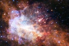 Schöner Galaxiehintergrund mit Nebelfleck, stardust und hellen Sternen vektor abbildung