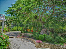 Schöner Garten Stockbild