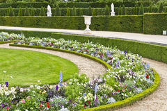 Schöner Garten in einem berühmten Palast Versailles Stockbild