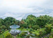 Schöner Garten im Berg Stockfoto