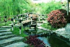 Schöner Garten Lanscape vom lembang Bandung stockbild