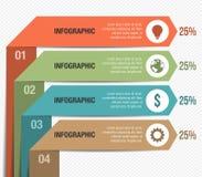 Schöner gefalteter Vektor Infographic Stockbilder