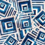 Schöner geometrischer Hintergrund der farbigen Quadratschmutzeffekt-Vektorillustration vektor abbildung