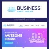Schöner Geschäfts-Konzept-Markenname-Gurt, Kasten, Förderer, facto stock abbildung