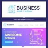 Schöner Geschäfts-Konzept-Markennamevertrag, Dokument, Papier vektor abbildung