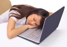 Schöner Geschäftsfrauschlaf Lizenzfreie Stockfotos