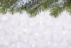 Schöner glänzender Ball auf einem Winterhintergrund Lizenzfreies Stockbild