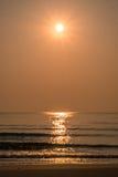 Schöner Glanz des goldenen Meersands Lizenzfreie Stockfotos