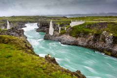 Schöner Godafoss-Wasserfall in Island Stockfoto