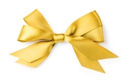 Schöner Goldbogen auf weißem Hintergrund Stockfotografie