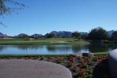 Schöner Golfplatz Stockbild