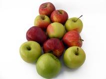 Schöner grüner Apfel stellt passendes für das Verpacken dar Stockbild