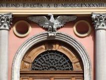 Schöner Grenzstein in Rom, Italien Stockbilder