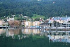 Schöner Hafen in Bregenz, Österreich Stockbild