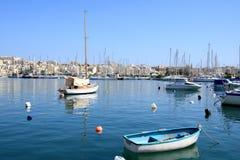 Schöner Hafen von Sliema in Malta Stockfotografie