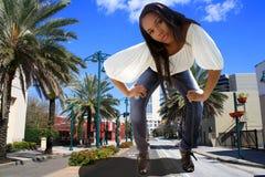 Schöner Hatian Riese in im Stadtzentrum gelegenem Orlando Stockbild