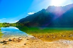 Schöner heller Seeanblick des Polen-Seeauges auf einem sonnigen Sommer Lizenzfreies Stockfoto