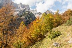 Schöner Herbst in den bayerischen Alpen Stockfotos