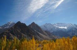 Schöner Herbst in Pasu, Nord-Pakistan Lizenzfreies Stockfoto
