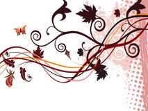 Schöner Herbstauszugshintergrund stockfotos