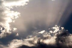Schöner Himmel morgens stockbild