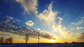 Schöner Himmel am Sonnenuntergang Lizenzfreie Stockbilder