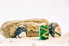 Schöner Hintergrund der frohen Weihnachten und des guten Rutsch ins Neue Jahr auf weißem Hintergrund Lizenzfreies Stockfoto
