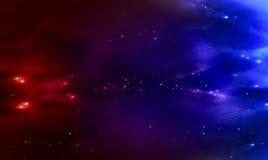 Schöner Hintergrund der Galaxie Stockfotos