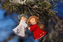 Schöner Hintergrund der Winterfeiern Stockfoto