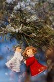 Schöner Hintergrund der Winterfeiern Stockfotos