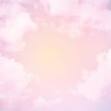 Schöner Hintergrund Himmel mit Wolken Stockfotografie