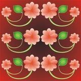 Schöner Hintergrund mit Blumen Lizenzfreies Stockfoto