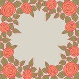 Schöner Hintergrund mit Rosen und Platz für Ihren Text. Stockfotografie