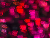 Schöner Hintergrund mit unterschiedlichem farbigem Tasse Kaffee, Abstr. Stockfotos