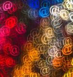 Schöner Hintergrund mit unterschiedlichem gefärbt am Zeichen, abstraktes Ba Lizenzfreies Stockfoto
