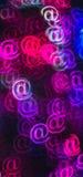 Schöner Hintergrund mit unterschiedlichem gefärbt am Zeichen, abstraktes Ba Lizenzfreies Stockbild