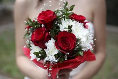 Schöner Hochzeitsblumenstrauß Lizenzfreie Stockfotos