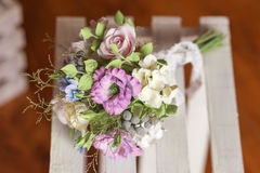 Schöner Hochzeitsblumenstrauß gemacht vom Polymer clay-2 Lizenzfreie Stockbilder