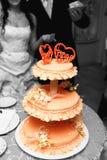 Schöner Hochzeitskuchen Stockfotografie