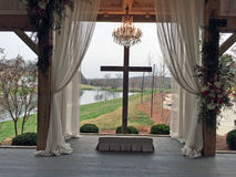 Schöner Hochzeitsort Stockbild