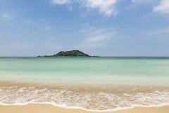 Schöner Hyeopjae-Strand in Jeju-Insel stockfotografie