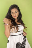 Schöner indischer Jugendlicher Stockfotos