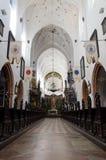 Schöner Innenraum der polnischen Kathedrale Lizenzfreie Stockfotografie