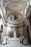 Schöner Innenraum des Pantheons, eine UNESCO-Welterbestätte Paris, Frankreich lizenzfreie stockbilder