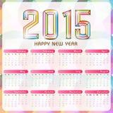Schöner 2015-jähriger Kalender Lizenzfreies Stockbild