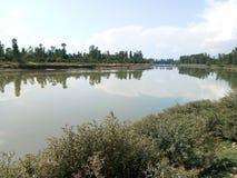 Schöner Jehlum-Fluss Stockfotos