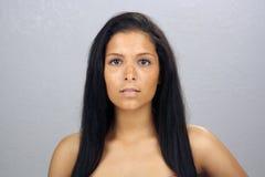 Schöner jugendlich Latina Headshot (4) Stockfotografie